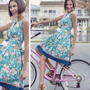 Matilda Jane Blue Floral Retro Halter Dress